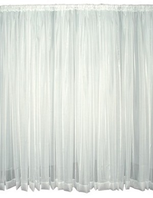 20 Foot Tall Sheer Voile Drape